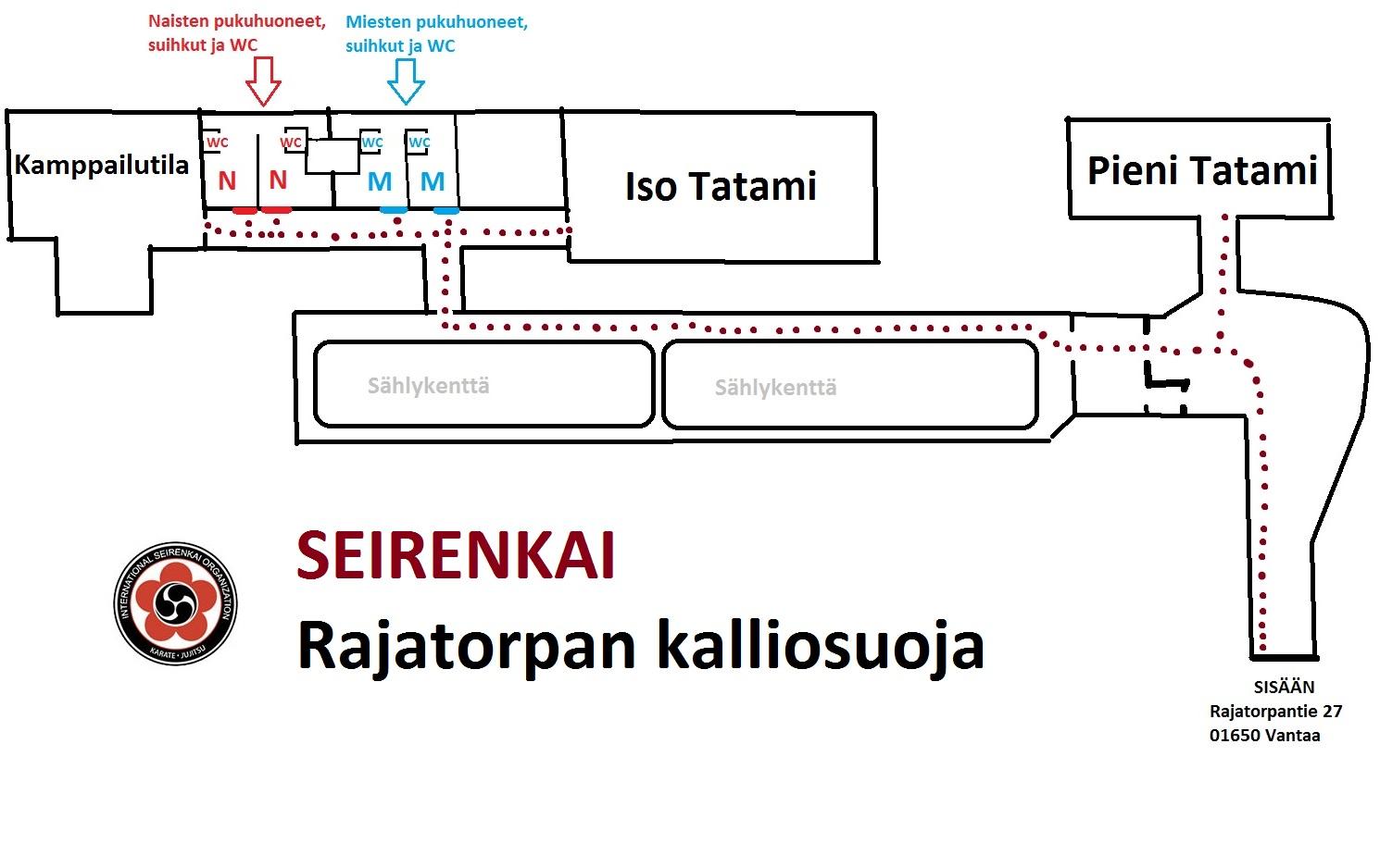 Rajatorpan Kalliosuoja Kartta